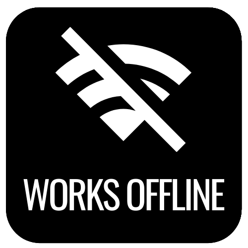 no internet works offline